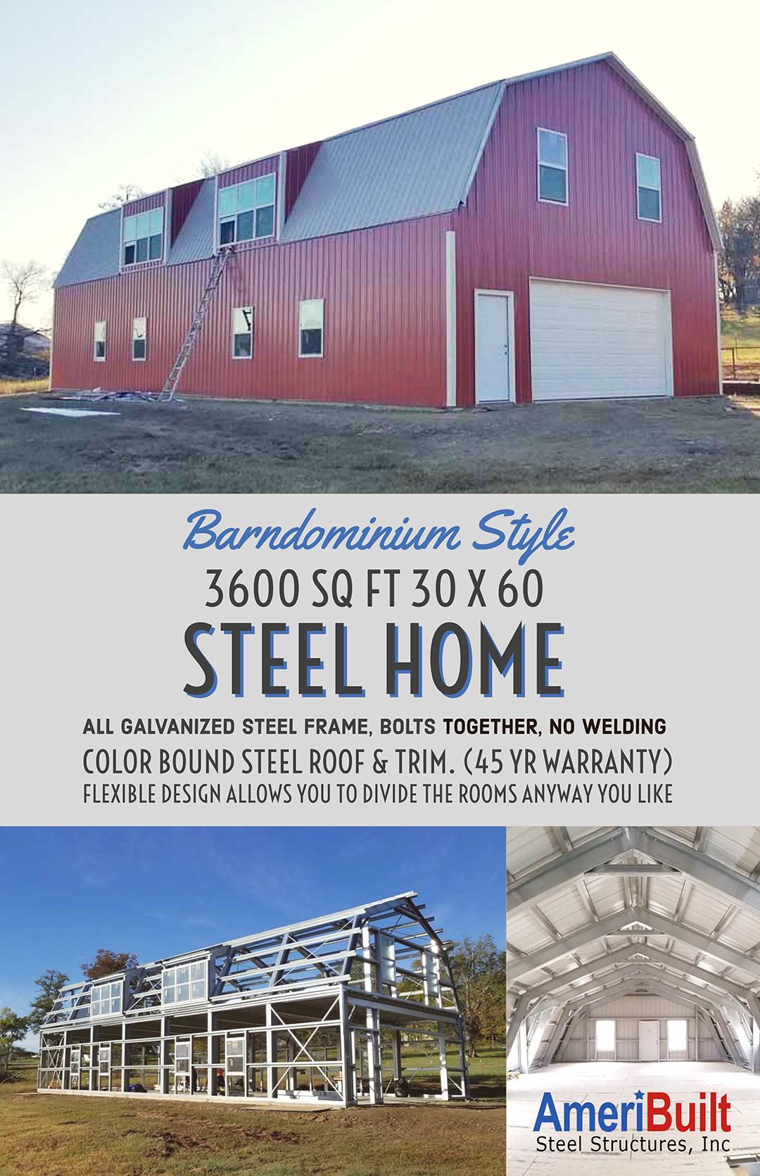 Steel Homes And Barndominiums By Ameribuilt Steel Metal Building Kits Metal Building Kits Prices Steel House