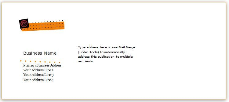 envelope template design for ms word download at http www