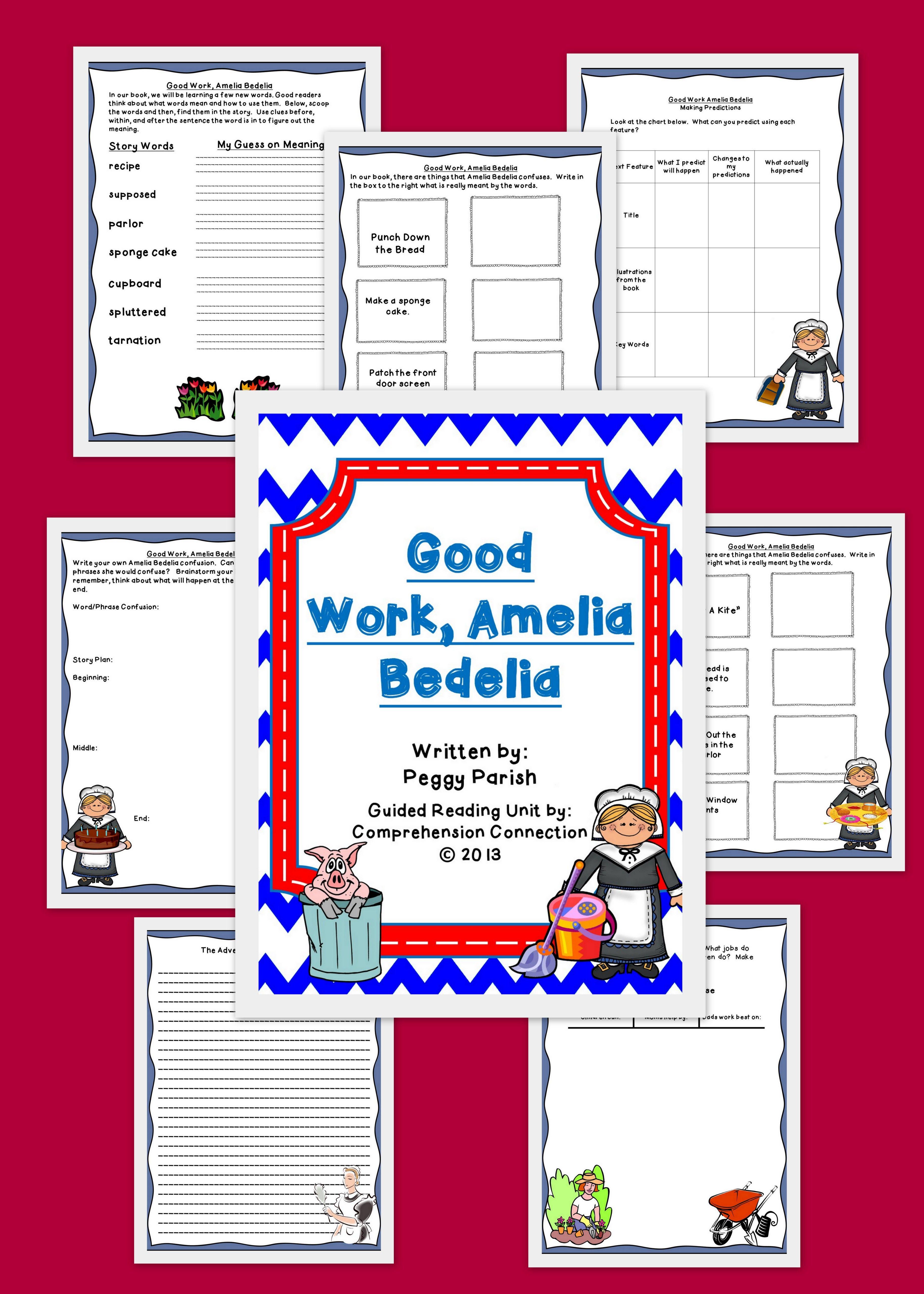 Good Work Amelia Bedelia Book Companion