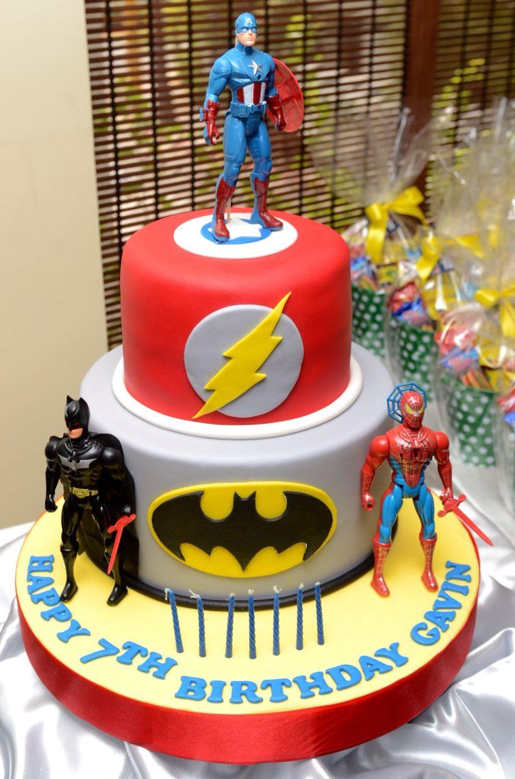 Superhero Theme Cake Birthday Cakes Pinterest Avenger Cake And