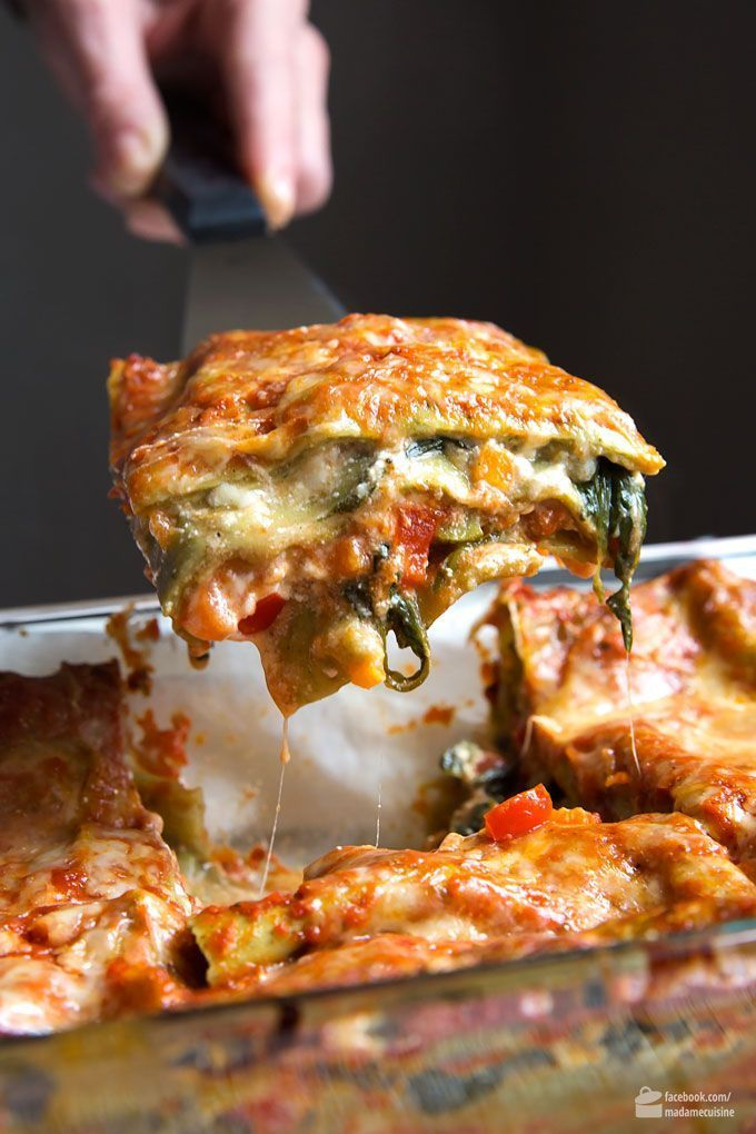 Gemüse-Lasagne mit Spinat: Amore Italia #veganerezeptemittag
