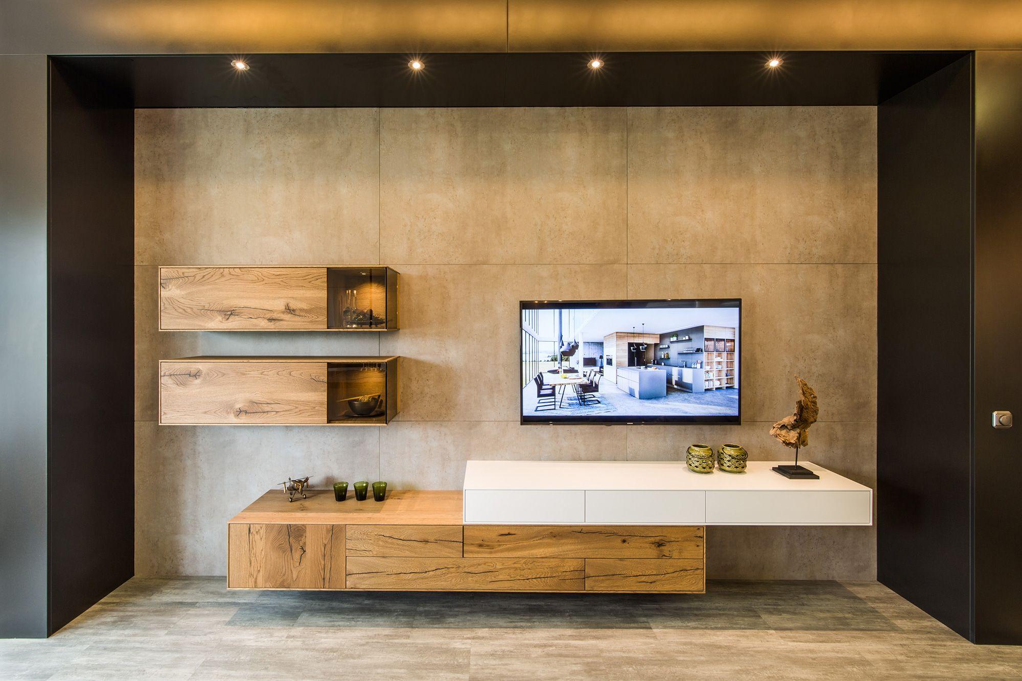 Beton Mit Eiche Kombiniert Wohnmobel Wohnzimmer Planen Wohnzimmer Haus Wohnzimmer