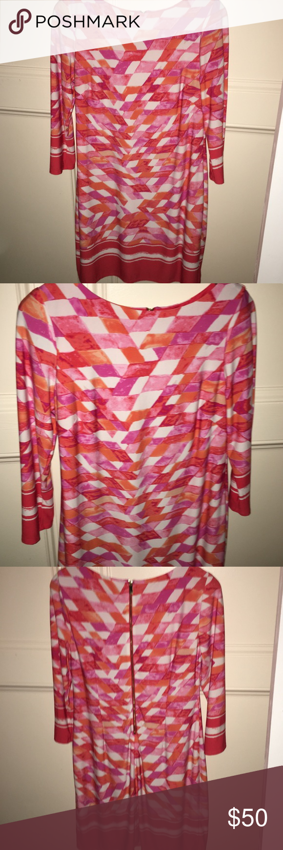 Euc Vince Camuto Vibrant Colors Shift Dress Shift Dress Colorful Dresses Dresses