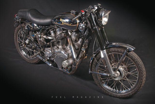 royal enfield v-twin bulldog custom motorcycle | cafe racer