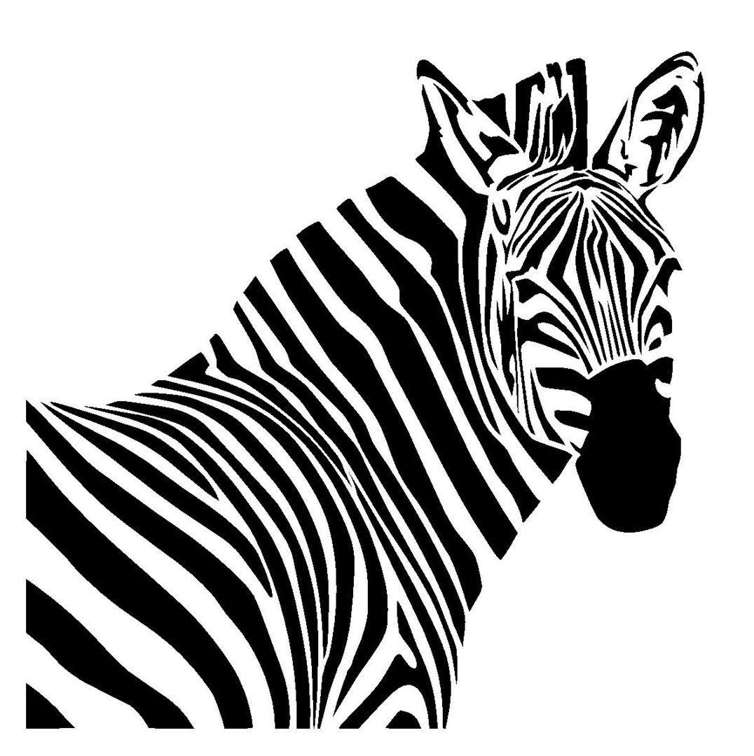 zebra stencil 1 | tattoo idea | Pinterest