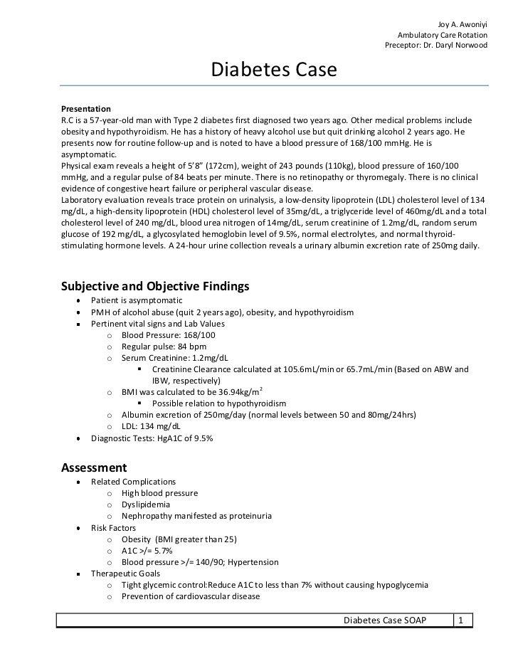 Joy A  Awoniyi Ambulatory Care Ro    | Study | Soap note, Resume refer…