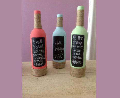 Idea para reciclar botellas de vino