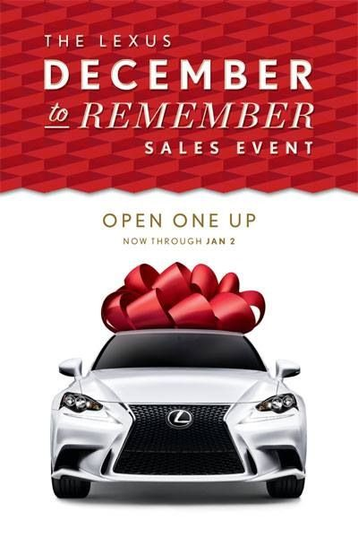 Lexus December To Remember Program Is Now On.