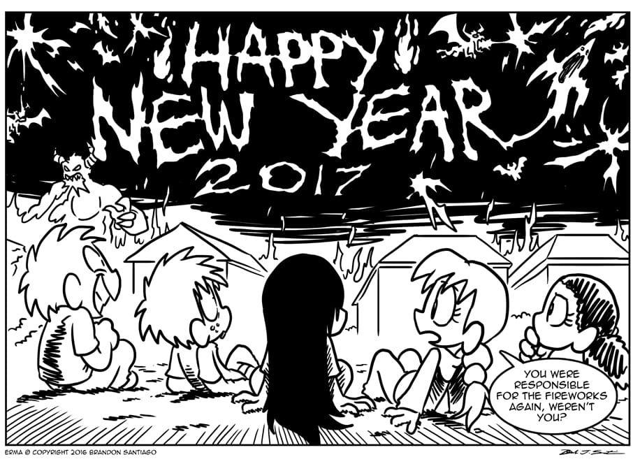 Erma :: Happy New Year 2017 | Tapastic Comics - image 1