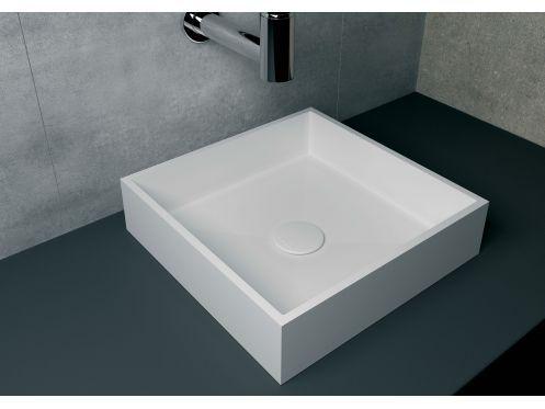 Corian Waschbecken waschbecken 40x40 cm harz solid surface nicea weiß corian