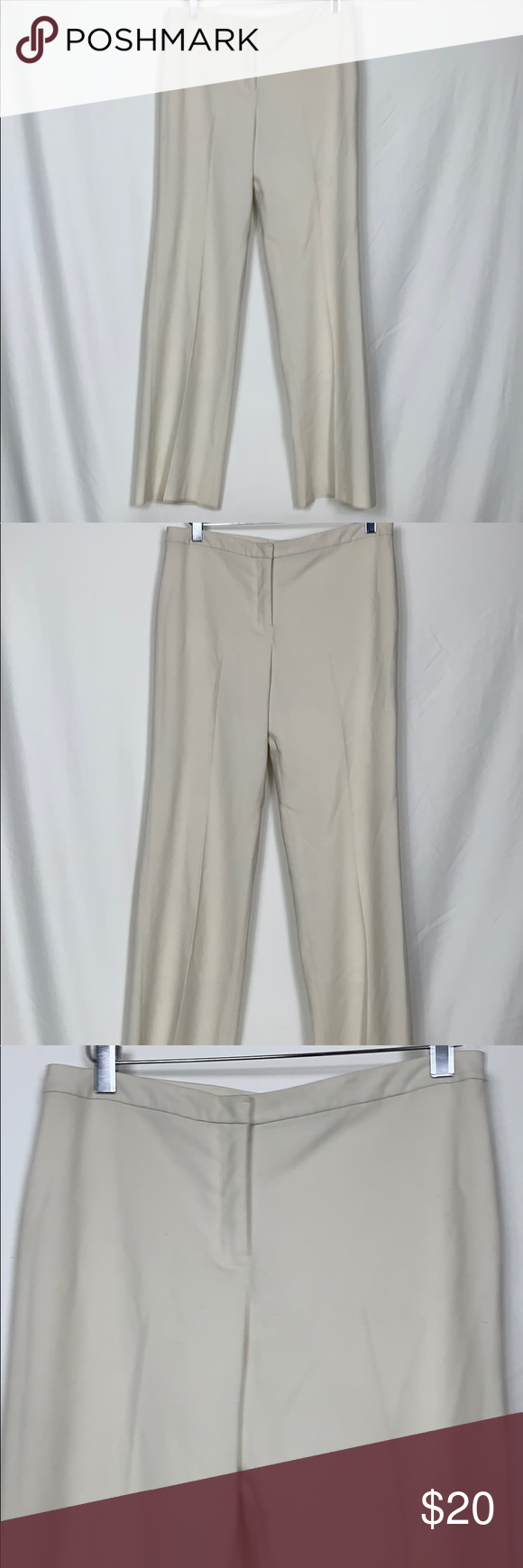 Express Stretch Cream Colored Pants Size 7 8 Cream Colored Pants Size 7 8 Has Stretch To Them 63 Polyester 31 Viscose 6 Spandex Has Colored Pants Pants