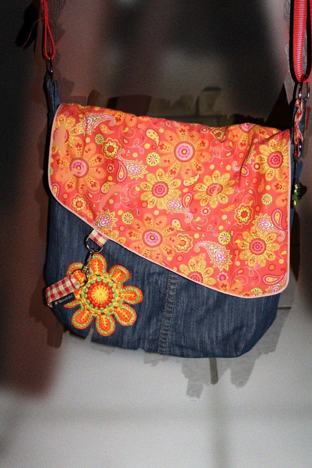 meine tasche nach eigenem schnitt recycled aus alter jeans alles meins. Black Bedroom Furniture Sets. Home Design Ideas