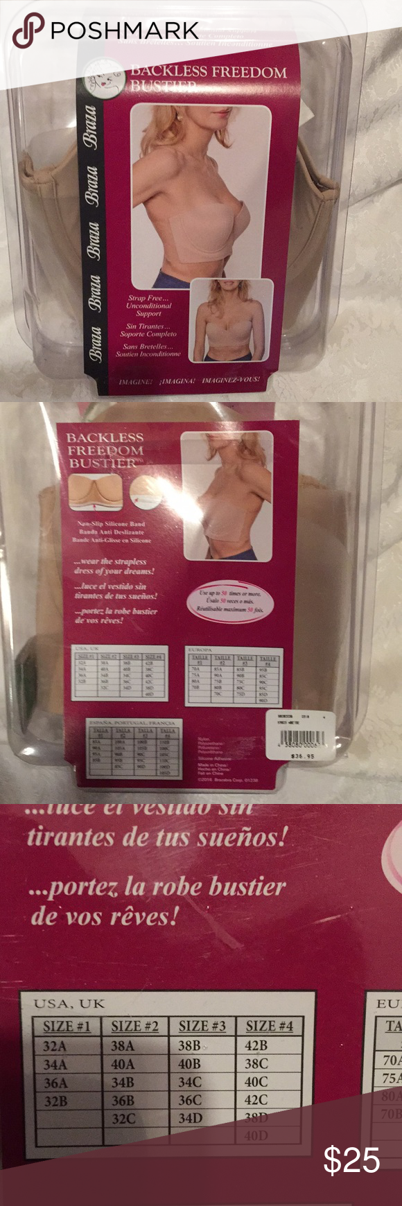 0ddaf91428abf Backless Freedom Bustier Nwt Backless strap free bustier Braza Other
