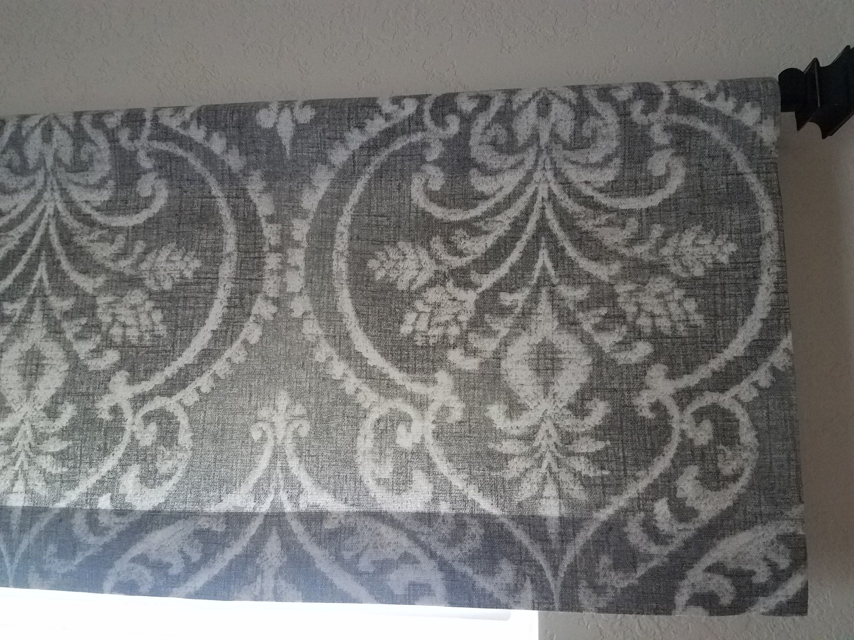 Gray Chevron Cornice Board Valance Window By Designerheadboards Home Valance Window Treatments Curtains