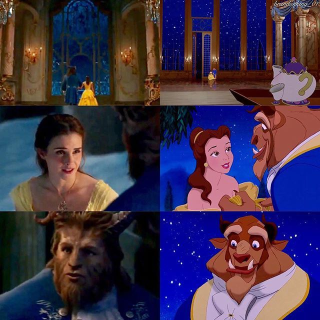 """2017 & 1991   """"You think you could be happy here. Can anybody be happy if they aren't free."""" / """"Belle, are you happy here with me. Well yes.""""   I'm glad for once Belle is being honest and gives Beast a straight up answer, she just simply says how it is #disney #beautyandthebeast #beautyandthebeast2017 #belle #beast #emmawatson #danstevens"""