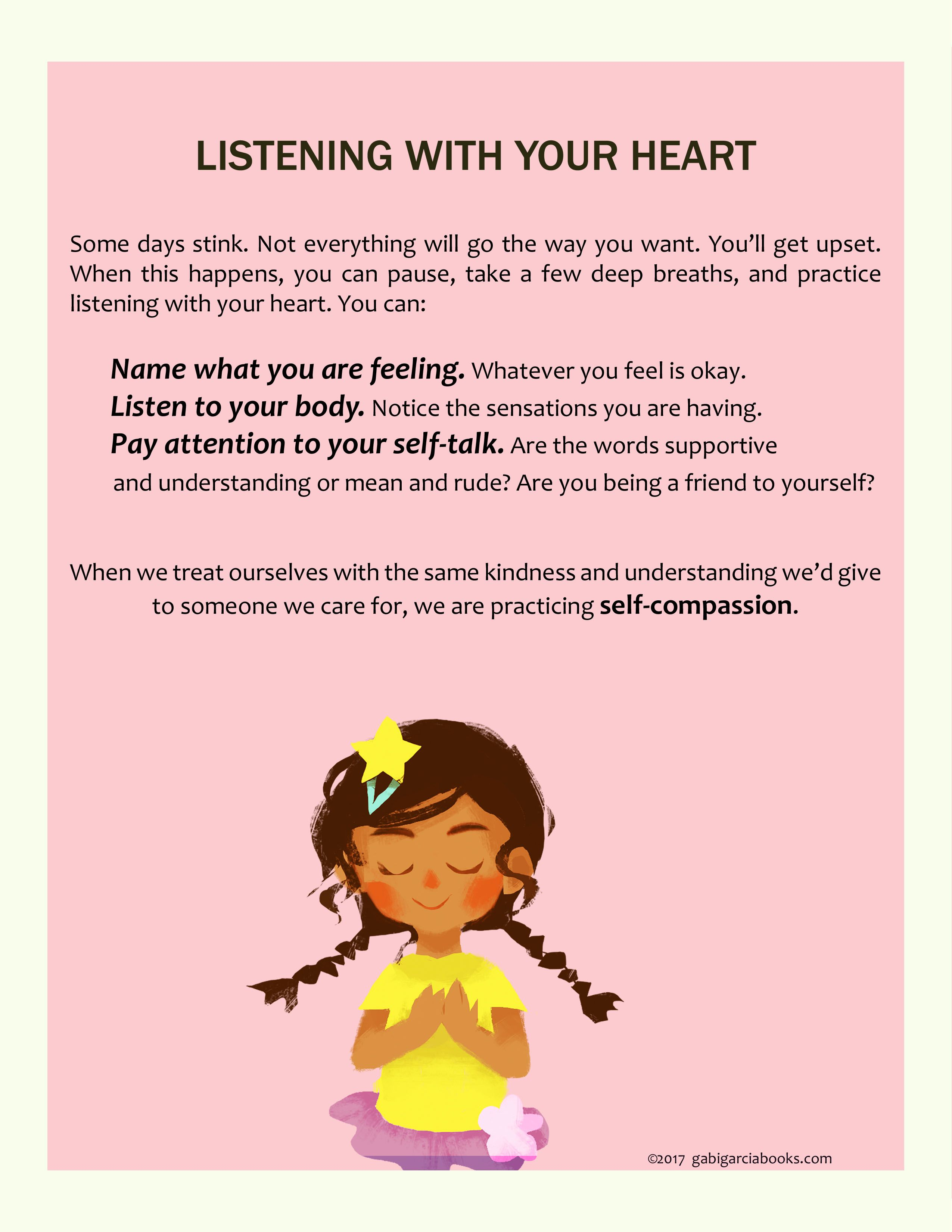 Free Talk On Mindfulness Practice For >> Free Downloadable Mindfulness Self Compassion Poster Listening