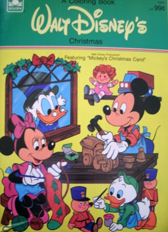 Walt Disneys Christmas Coloring Book Mickeys Christmas Etsy Coloring Books Vintage Coloring Books Christmas Coloring Books