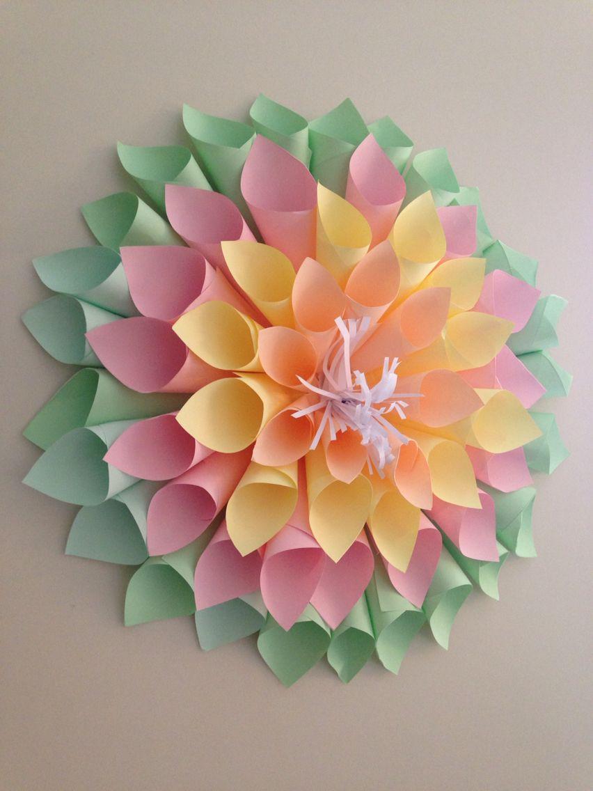 Summer Dahlia Paper Flowers Paper Flowers Diy Tissue Paper Flowers