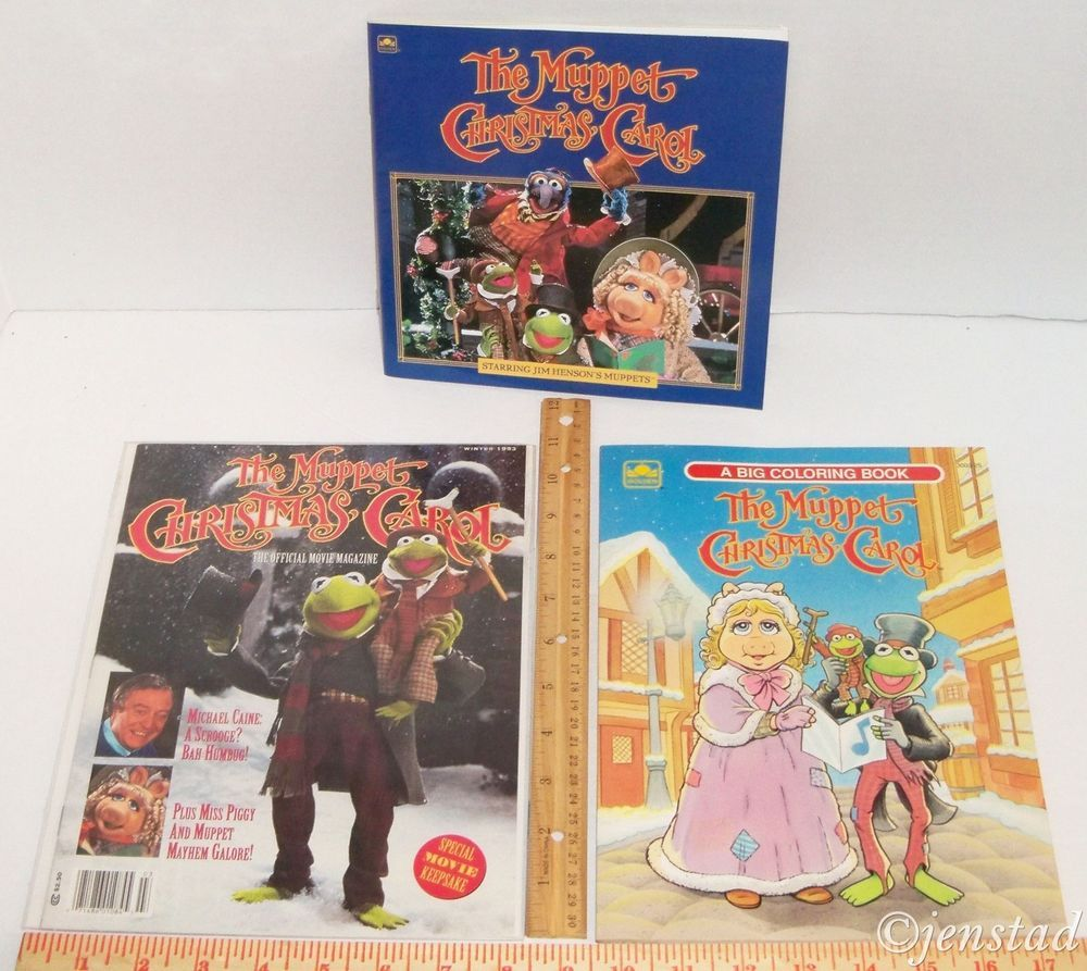 Ebenezer Scrooge Muppet Christmas Carol Jpg: JIM HENSON LOT OF 3 THE MUPPETS CHRISTMAS CAROL SCROOGE