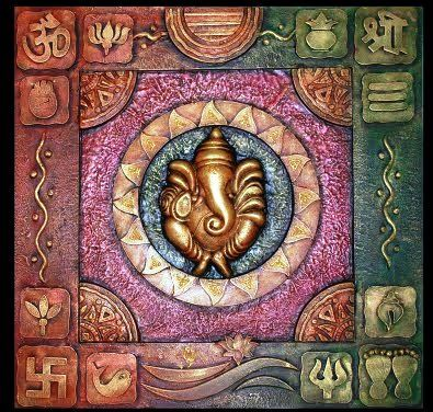 Buy handmade vasthu wallhanging to decorate your home for Mural ganesha