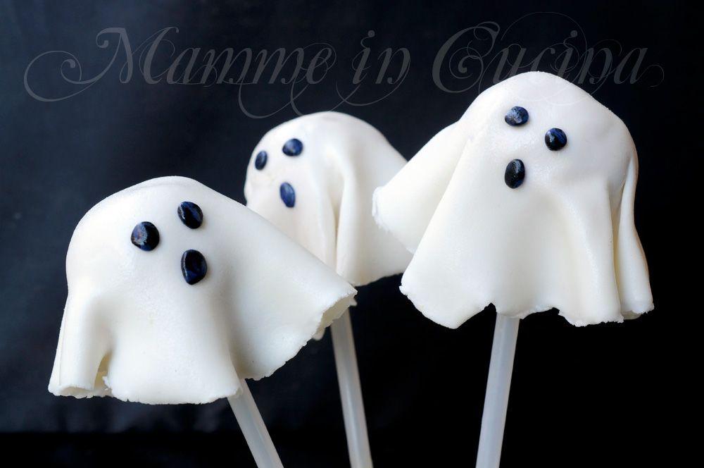 Biscotti Bambini ~ Cake pops fantasmini biscotti ricetta halloween per bambini