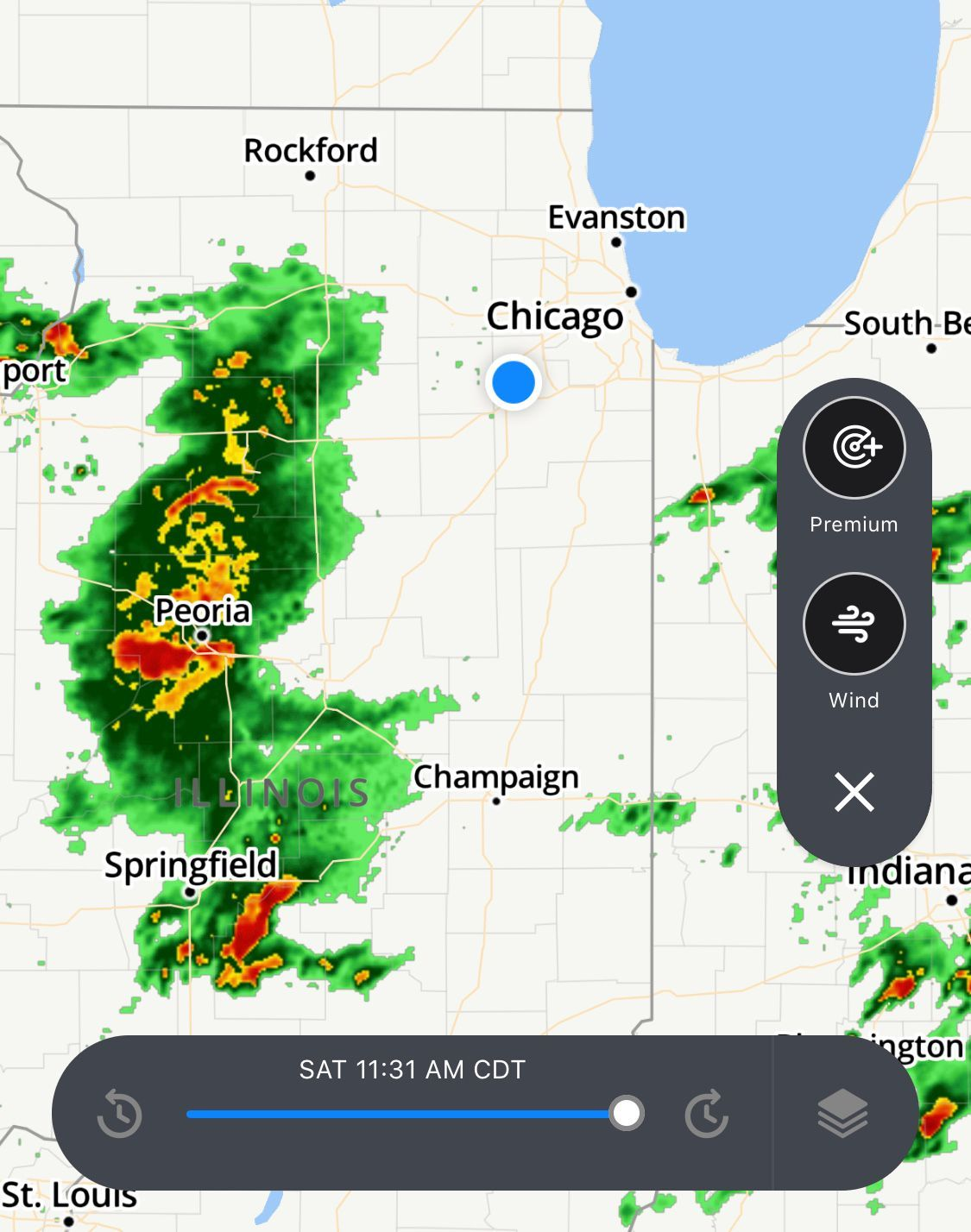 Intense storms and possibly damaging hail are coming into