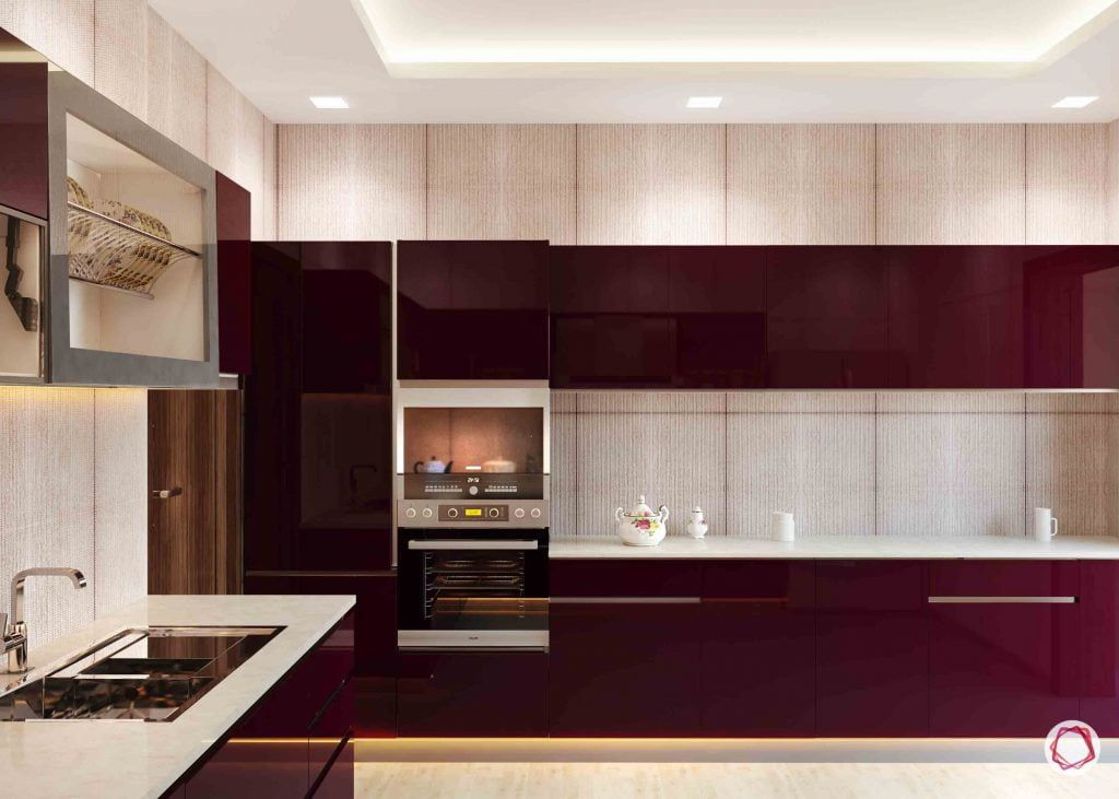 Interiors Like Fine Wine With 2019 S Hottest Colour Asian Paints L Shaped Modular Kitchen Kitchen Design