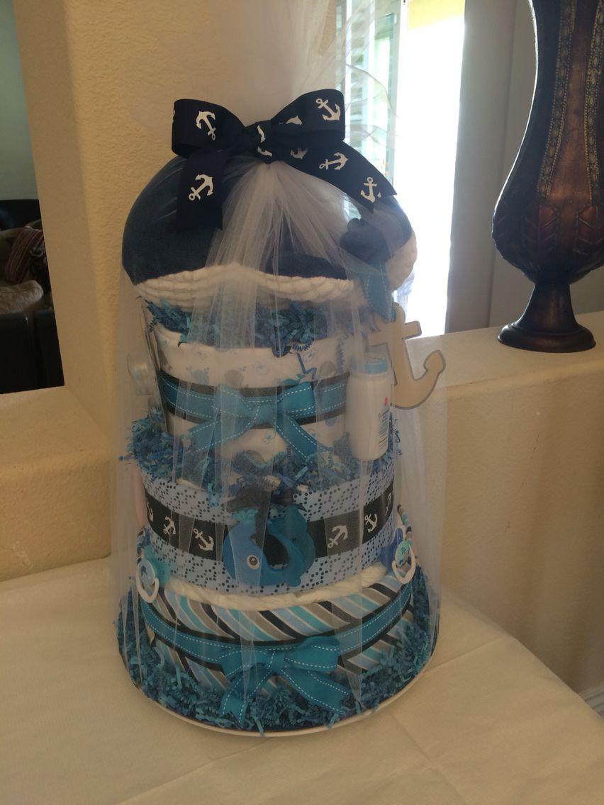 My second diaper cake!