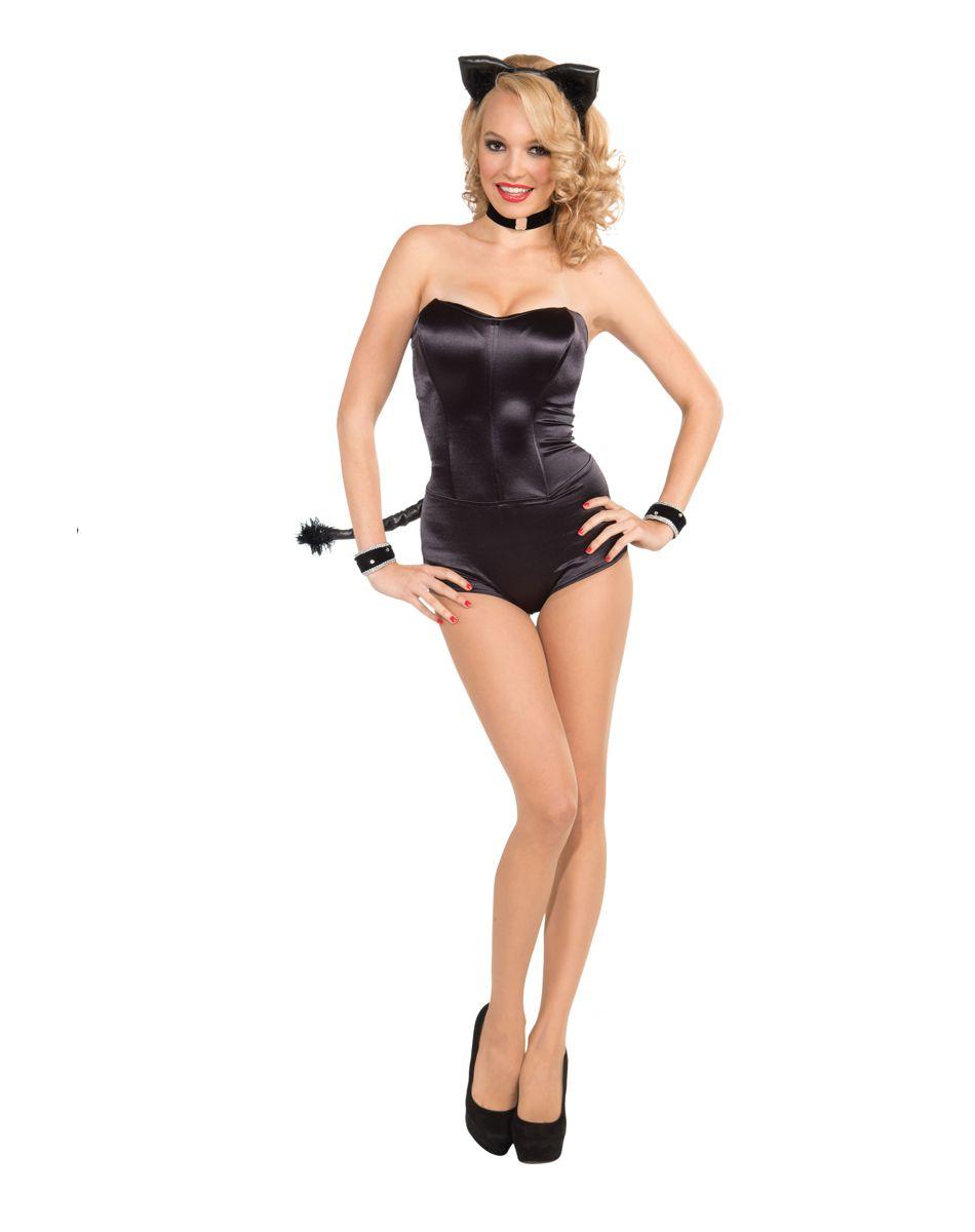 strapless black bodysuit