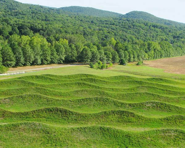 Maya Lin\'s Wave Field at Storm King Art Center about one hour north ...