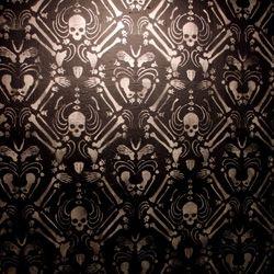 Prints Patterns Skeleton Damask Stencil Wallpaper Installation By