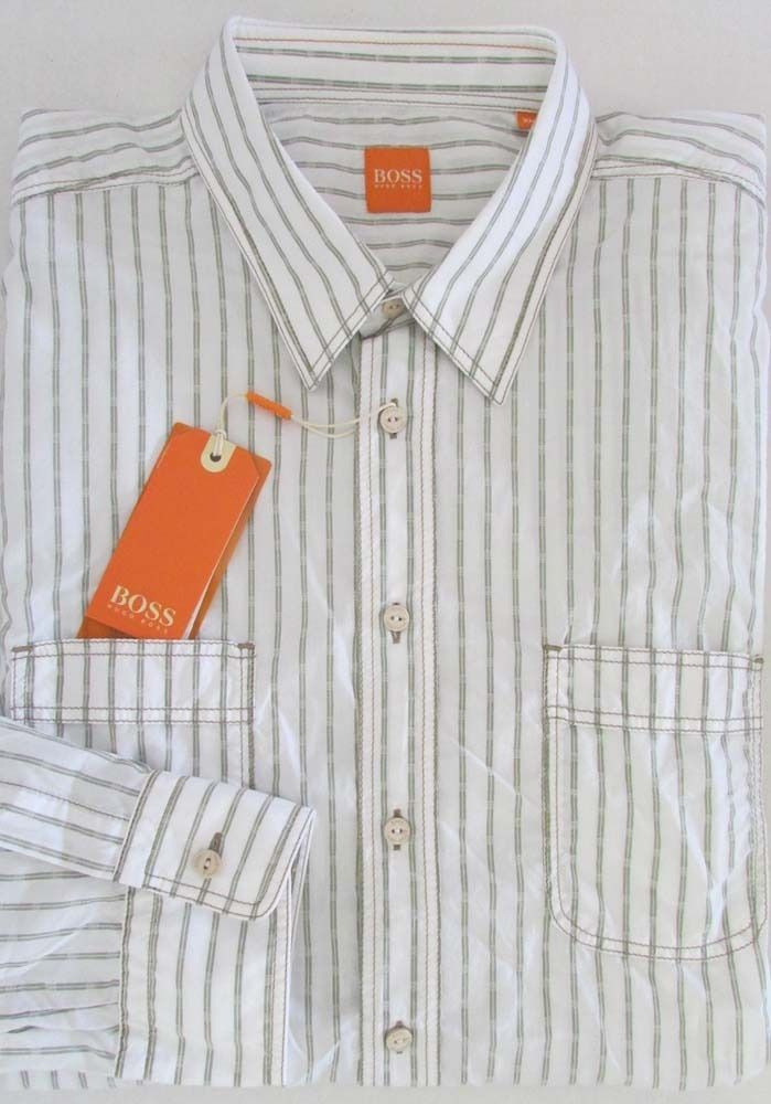 c997eef62da0 NWT Boss Hugo Boss Orange Label Dress Shirt w/Roll-Up Sleeves Size XL # HugoBoss