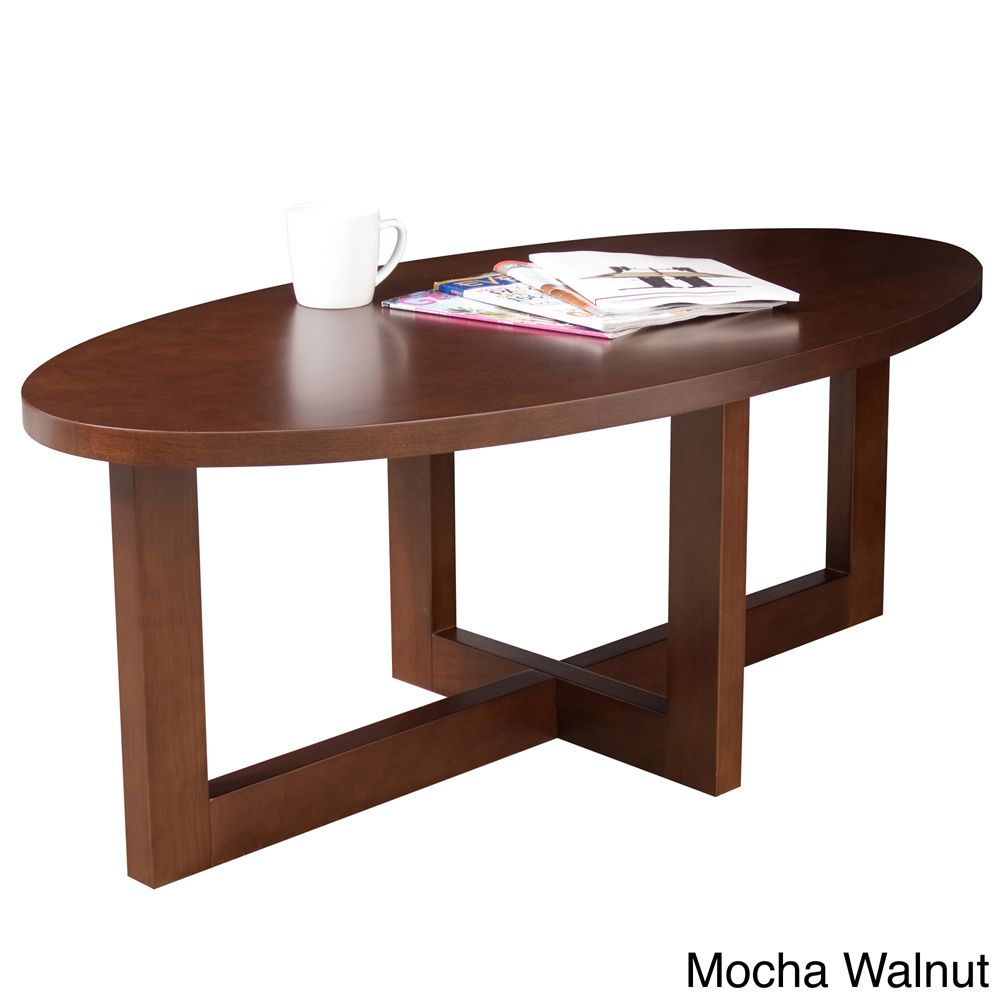 Regency Seating Oval 18 Inch High Wood Coffee Table
