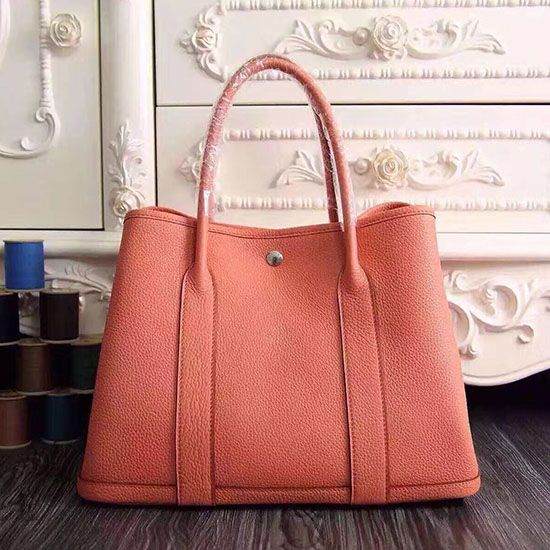 31d0e5273cc Garden Party 36 30 Tote Bag in Imported Togo Leather Light Orange ...