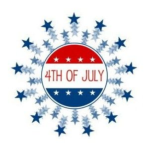 4th of july small. Th star clipart