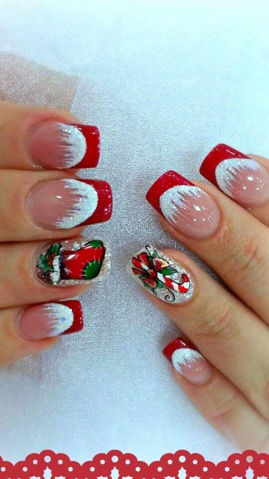 25 Christmas Nail Art Designs That You Will Love To Copy Nail Polish Addicted Christmas Nail Designs Cute Christmas Nails Xmas Nails