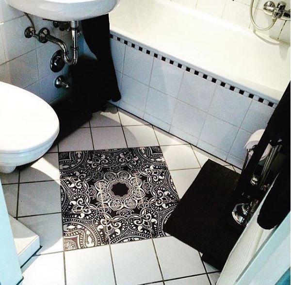 Fliesenaufkleber Fur Kuche Bad Design Blue Mandala Fliesenaufkleber Badezimmer Gestalten Fliesen