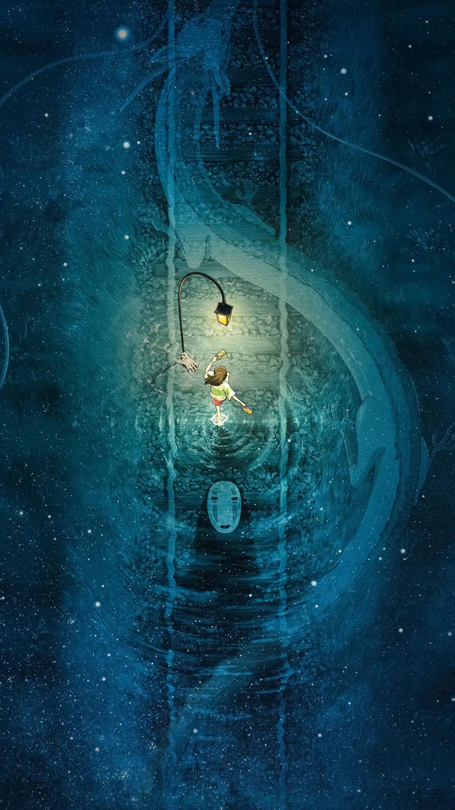 Spirited Away (2001) Phone Wallpaper в 2020 г. | Гибли ...