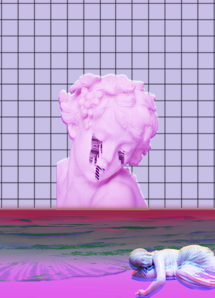 you make me cry Vaporwave desings by Digital Water Studio