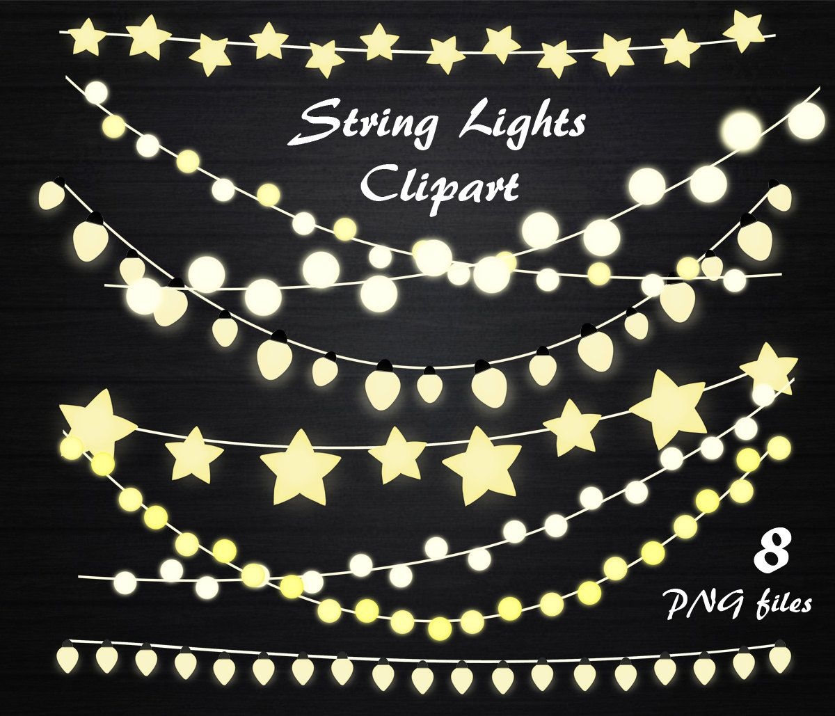 String Lights Clipart Clip Art Wedding Invitation Fairy Lamp Personal And Commercial Use