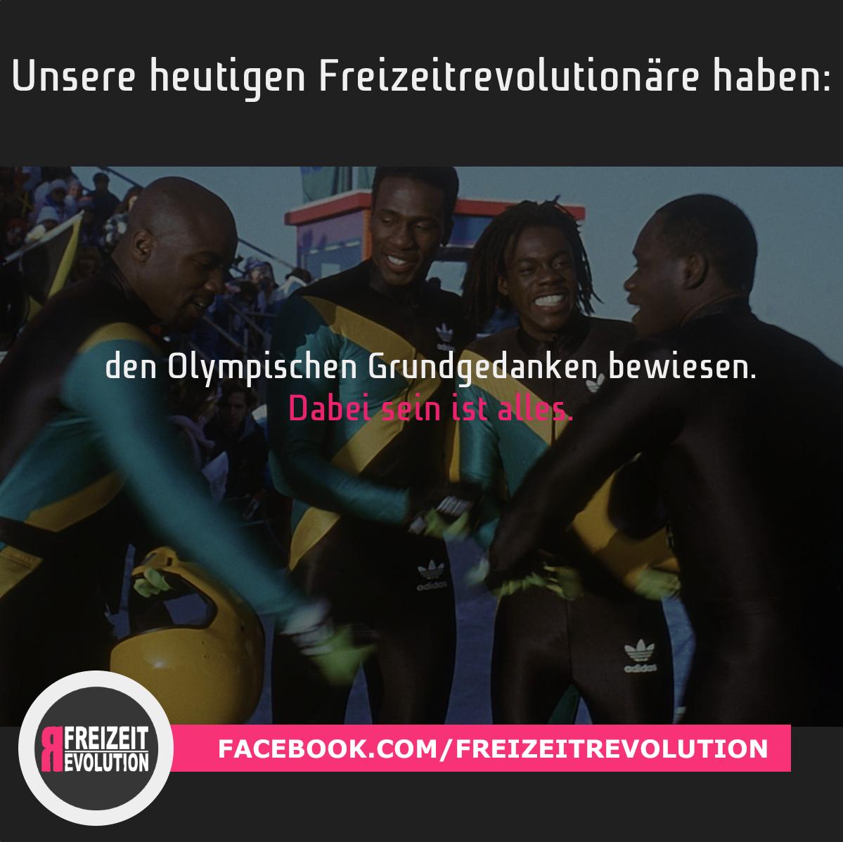 """Cool Runnings ist eine US-amerikanische Komödie aus dem Jahre 1993, welche die Geschichte der ersten jamaikanischen Bobmannschaft bei den Olympischen Winterspielen 1988 in Calgary auffasst. Sie bewiesen mit ihrem Einsatz und Engagement den Grundgedanken der Olympischen Spiele: """"Dabei sein, ist alles!"""""""