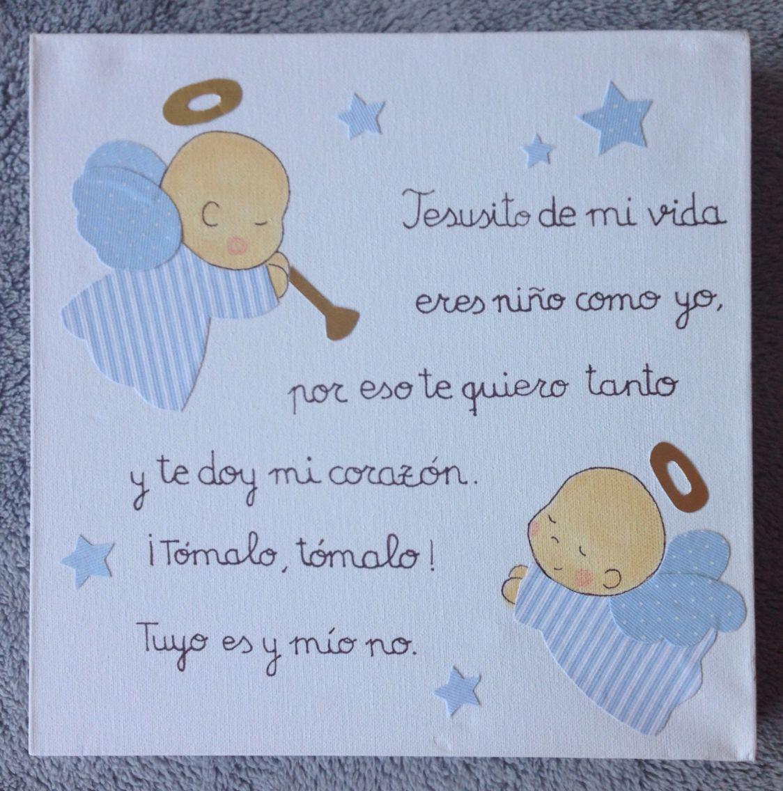 Jesusito..... con dos angelitos en azules. www.mamimania.es