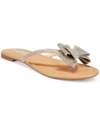 08c49c5d5 INC International Concepts Women s Mabae Bow Flat Sandals