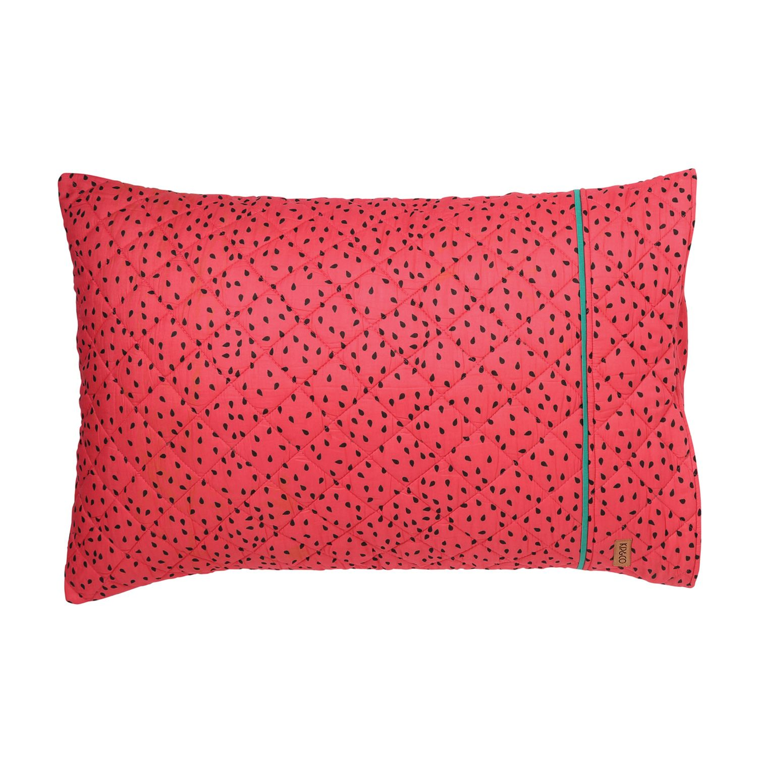 Watermelon Quilted Pillowcase Watermelon quilt, Single