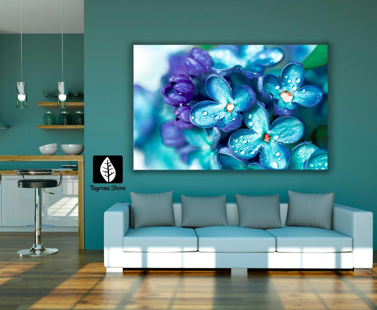 Cuadros Decorativos Flores 32 Azules Tayronastore Cuadros