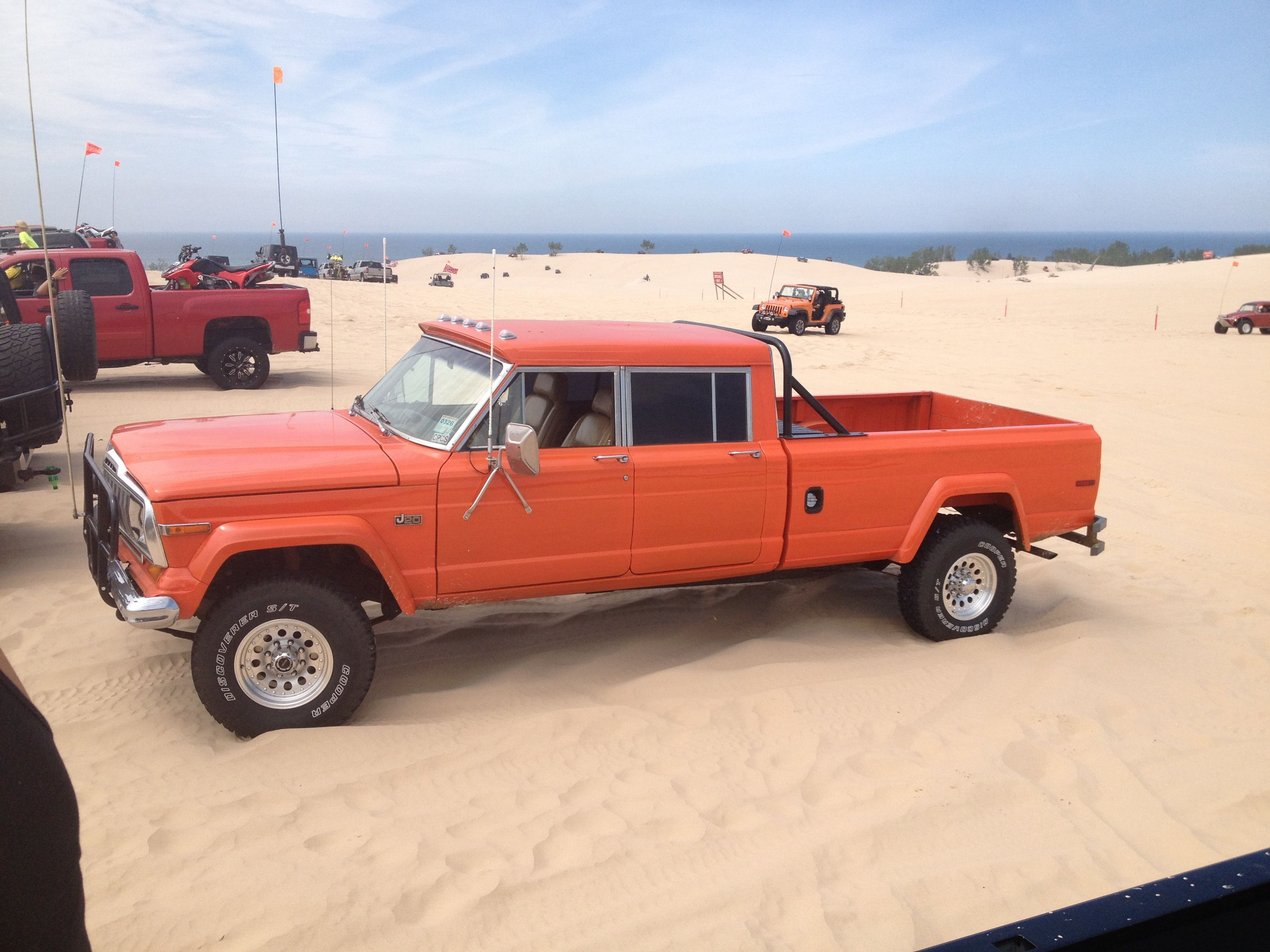j20 jeep at silver lake michigan | JEEPS | Jeep, Jeep pickup