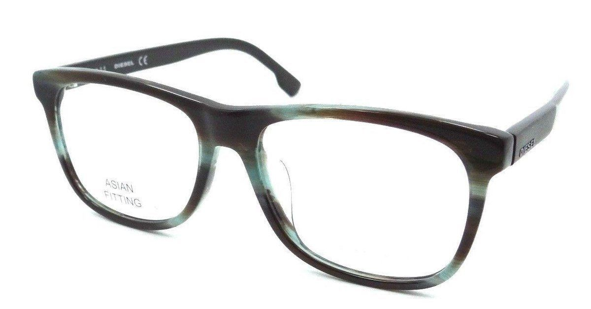 84dd47ee314c4 Diesel Rx Eyeglasses Frames DL5213-F 095 54-16-145 Brown Azure Striped  Asian Fit