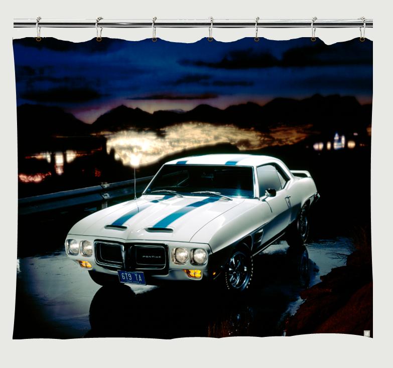 1969 Pontiac Trans Am Shower Curtain