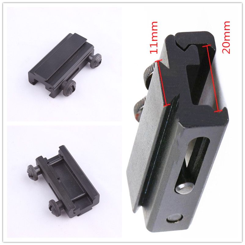 11mm to 20mm Extension Scope Mount Base Dovetail Weaver Picatinny Rail Adapter