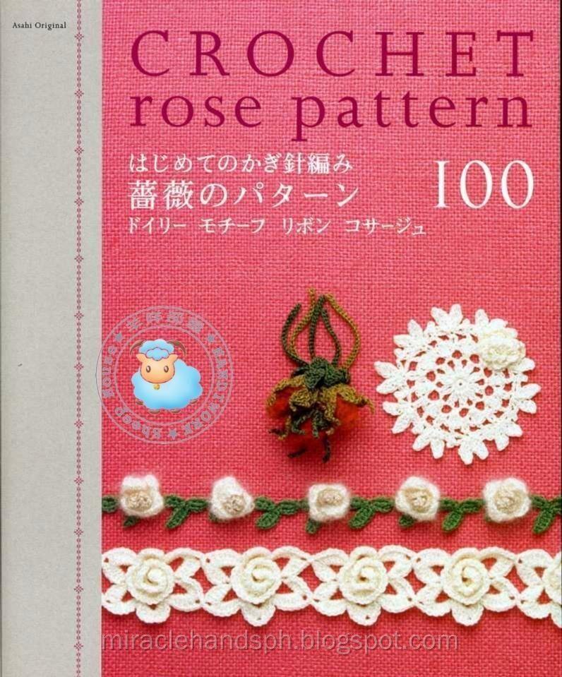 Crochet rose pattern - FREE   Books   Pinterest   Crochet, Patterns ...